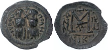 Nysa-Scythopolis / Beisan AE Fals, EXTREMELY RARE, quasi unpublished - see notes, VF+, 7th Century C.E.