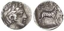 Ancient Coins - Troas, Neandria AR Obol, Near EF, 4th Century B.C.E.