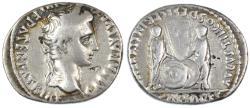 Ancient Coins - Augustus AR Denarius, Caius and Lucius Caesars, Fine+, 2 B.C.E. - 4 C.E.