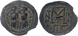 Ancient Coins - Nysa-Scythopolis / Beisan AE Fals, EXTREMELY RARE, quasi unpublished - see notes, VF+, 7th Century C.E.