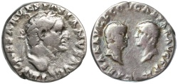 Ancient Coins - Vespasian AR Denarius, SCARCE Dynastic Type, 70 C.E.