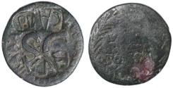 Ancient Coins - Augustus AE AS, Numerous Countermarks, 16 B.C.E.