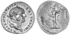 Ancient Coins - Vespasian AR Denarius, Choice Extremely Fine, 77/78 C.E.