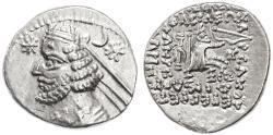 Ancient Coins - Orodes II AR Drachm, Extremely Fine, Rhagae Mint, 57 - 38 B.C.E.