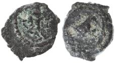 "Ancient Coins - Herod the Great ""Eagle"" AE Lepton, F+/F, 40 - 4 B.C.E."