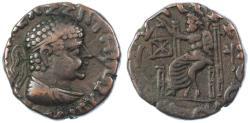 Ancient Coins - Hermaios, Indo-Greek Kings of Baktria AE Tetradrachm, GVF, 105 - 90 B.C.E.