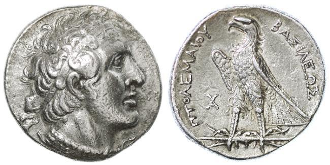 Ancient Coins - Ptolemy I AR Tetradrachm, BOLD VF+/EF, Alexandria mint, 305 - 283 B.C.E.