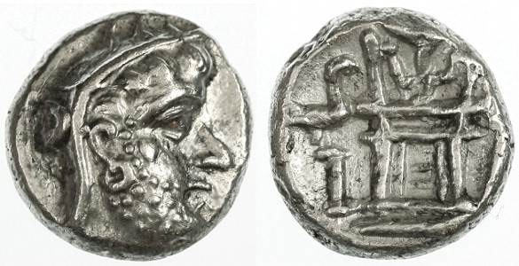 Ancient Coins - Persis, Unknown King AR Drachm, BOLD Near Mint State, 2nd Century C.E.