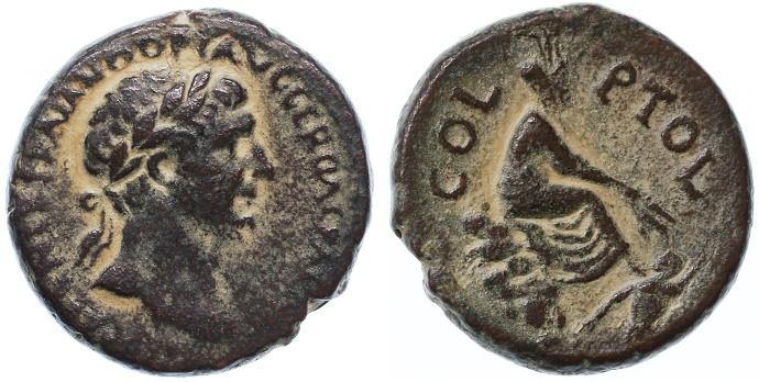 Ancient Coins - Biblical City Akko, Trajan AE, AEF/GVF, 98 - 117 C.E.