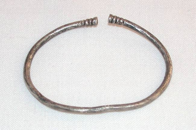Ancient Coins - Ancient Persia, Silver Bracelet, 6th - 4th Century B.C.E.