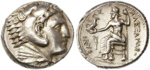 Alexander III the Great AR Tetradrachm, Superb Extremely Fine, Macedonia Mint, 323 - 320 B.C.E.