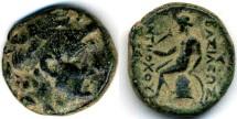 Ancient Coins - Antiochos I Seleucid AE, VF/VF+, 280  - 261 B.C.E.