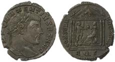 Ancient Coins - Maxentius AE Follis, Near EF, Nice style portrait, 307 C.E.