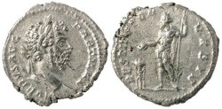 "Ancient Coins - Septimius Severus AR Denarius, Extremely Fine, ""Emperor Sacrificing"", 200/201 C.E."