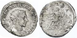 Ancient Coins - Macrinus AR Antoninianus, RARE, AVF/F, 217 C.E.