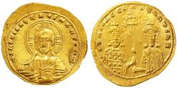 Ancient Coins - Basil II Bulgaroktonos with Constantine VIII AV Gold Histamenon Nomisma, GVF, 989 - 1001 C.E.