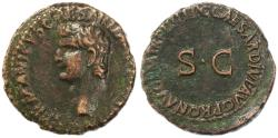 Ancient Coins - Germanicus AE AS, Very Fine, Struck by Caligula 40/41 C.E.