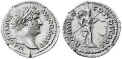 Ancient Coins - Hadrian AR Denarius, CHOICE Extremely Fine, SCARCE, 134 - 138 C.E.
