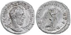 Ancient Coins - Macrinus AR Denarius, RARE!, Very Fine, 217/218 C.E.