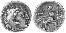 Ancient Coins - Alexander the Great AR Drachm, GVF, Sardes Mint, 323 - 319 B.C.E.