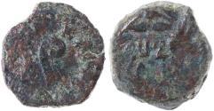 Ancient Coins - Pontius Pilate prefect under Tiberius AE Prutah, VF/AVF, 30/31 C.E.