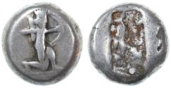 Ancient Coins - Achaemenid Kings of Persia AR Siglos, SCARCE early type, 505 - 480 B.C.E.