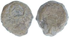Ancient Coins - Alexander Jannaeus PB Lead Prutah, VF, 103 - 76 B.C.E.