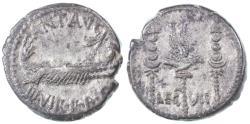 Ancient Coins - Mark Antony AR Legionary Denarius, VF+/ AEF, 32/31 B.C.E.