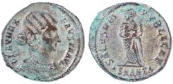 Ancient Coins - Fausta Silvered AE Follis, Extremely Fine, Antioch Mint, 326 B.C.E.
