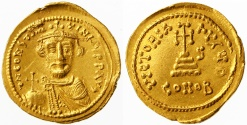 Ancient Coins - Constans II AV Gold Solidus, SUPERB EF on a medallic flan, SCARCE, 647/648 C.E.