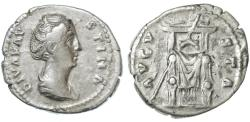 Ancient Coins - Faustina AR Denarius, VF, Scarce, After 161 C.E.
