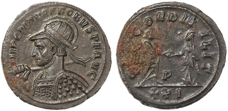 Ancient Coins - Probus Billon Antoninianus, Near Mint and pedigreed, 279/280 C.E.