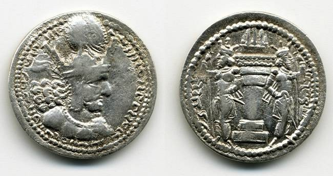 Ancient Coins - Shapur I (Shevor Malka), Nice VF/VF+ well struck on BOTH sides, 214-272 C.E.
