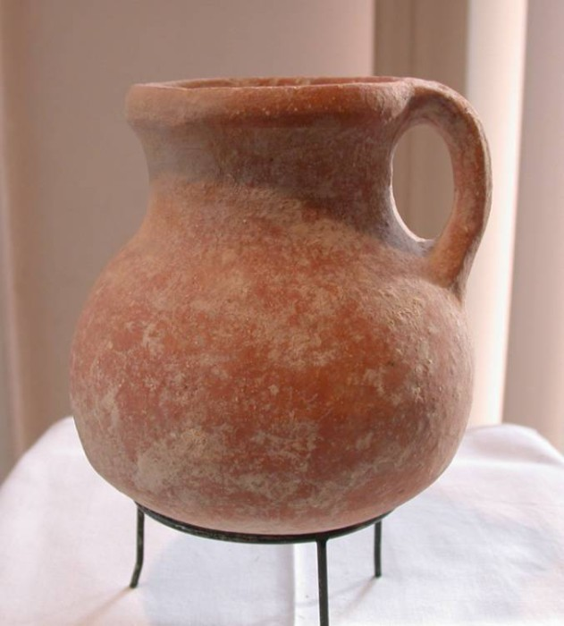 Ancient Coins - Judaean Jug, Nice and Intact, Iron Age II 900-587 B.C.E., First Temple Period