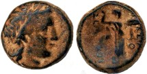Ancient Coins - Seleukos I AE, Earliest Seleucid bronze, CHOICE VF+/VF with Incredible original patina, 312 - 280 B.C.E.