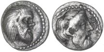 Ancient Coins - Nagidos, Cilicia AR Obol, VF+, Circa. 400 - 380 B.C.E.