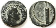 "Ancient Coins - Domitian AE ""Judaea Capta"" type, VF, SCARCE, 81/82 C.E."