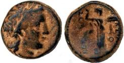 Ancient Coins - Seleukos I AE, Earliest Seleucid bronze, CHOICE VF+/VF with Incredible original patina, 312 - 280 B.C.E.