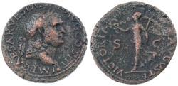 Ancient Coins - Vespasian AE AS, Very Fine, VICTORIA AVGVSTI, 71 C.E.