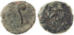 Ancient Coins - Pontius Pilate AE Prutah, Prefect under Tiberius, GF, 30 - 32 C.E.