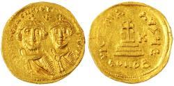 Ancient Coins - Heraclius and Heraclius Constantine AV Gold Soldius, MINT State, 625 - 629 C.E.