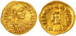 Heraclius AV Gold Tremissis, Extremely Fine, Nice Style, 613 - 641 C.E.