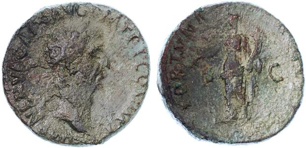 Ancient Coins - Nerva AE AS, Rough Fine, Budget coin, 97 C.E.