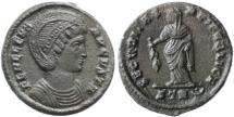 Ancient Coins - Helena Augusta AE Follis, Very Fine+, Teveri Mint, 326 C.E.