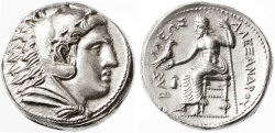 Ancient Coins - Alexander III the Great AR Tetradrachm, BOLD MINT State, 323 - 320 B.C.E.