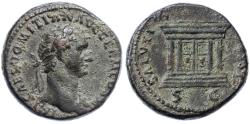Ancient Coins - Domitian AE AS, About Extremely Fine, Pedigreed!, 85 C.E.