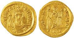 Ancient Coins - Phocas AV Gold Soldius, Near Mint State, 603 - 607 C.E.
