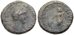 Ancient Coins - Anthedon, Biblical City, Severus Alexander AE,  RARE ! Fine+, 222 - 235 C.E.