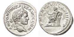 Ancient Coins - Caracalla AR Denarius, Extremely Fine, Circa. 214 C.E