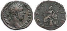 Ancient Coins - Marcus Aurelius AE Sestertius, VF/AVF, see notes, 171/172 C.E.